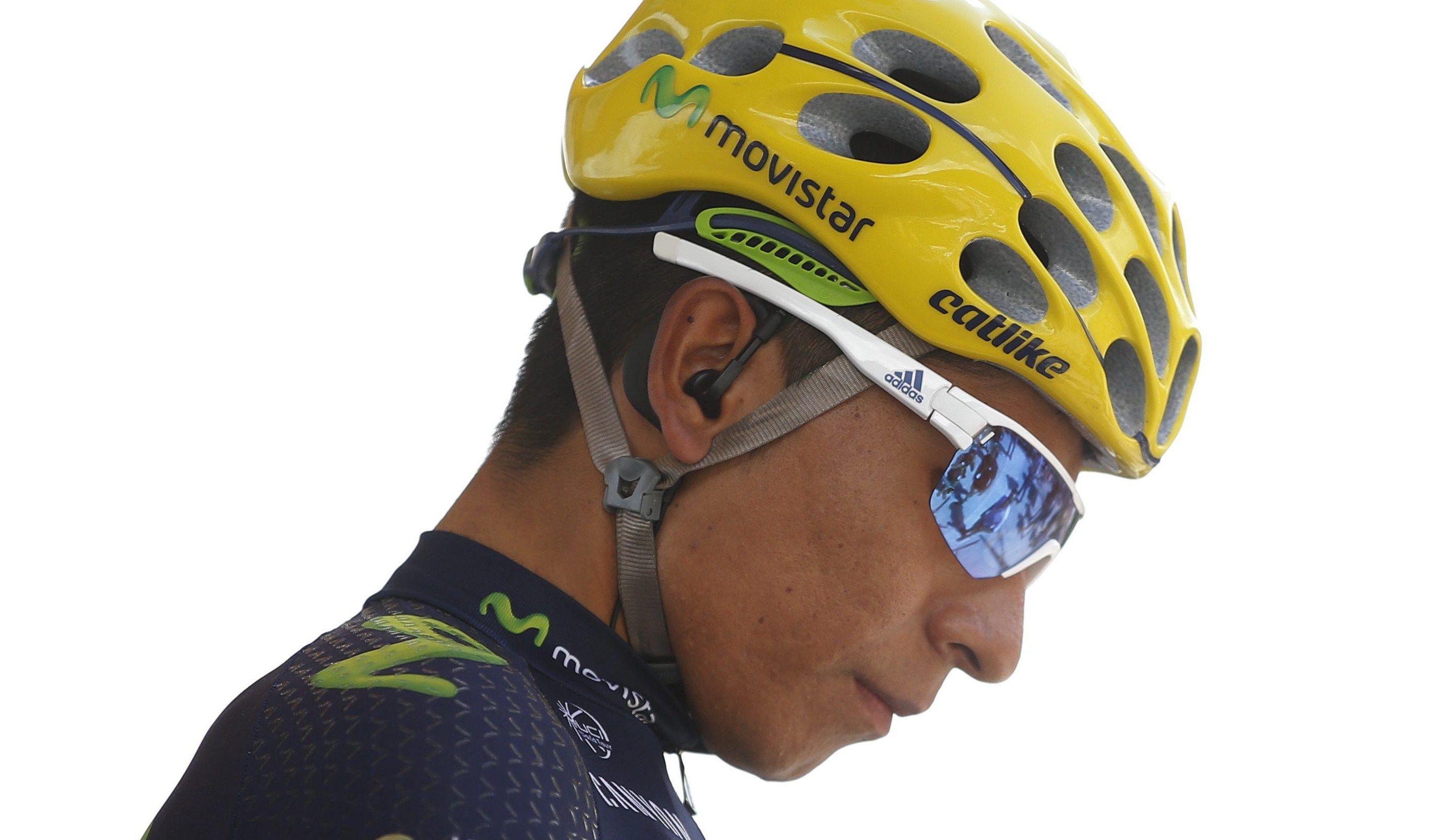 . Morzine-avoriaz (France), 23/07/2016.- Movistar team rider Nairo Alexander Quintana of Colombia seen prior to the 20th stage of the 103rd edition of the Tour de France cycling race over 146.5 Km between megeve and Morzine-Avoriaz, France, 23 July 2016. (Ciclismo, Francia) EFE/EPA/YOAN VALAT